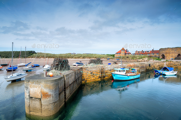 Beadnell Harbour - Stock Photo - Images