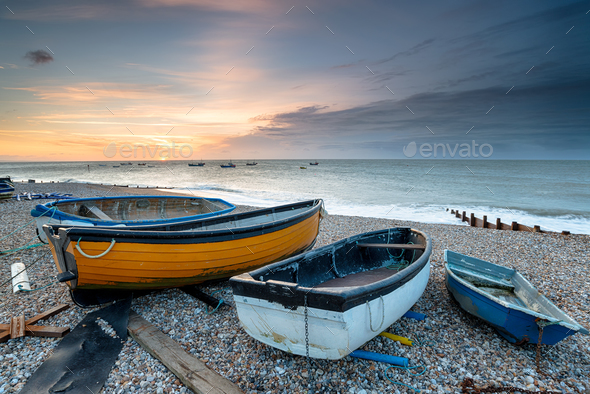 Fishing Boats at Selsey - Stock Photo - Images