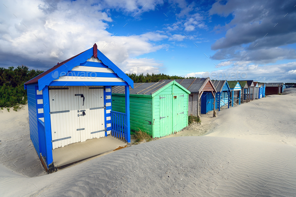 Colourful Beach Huts - Stock Photo - Images