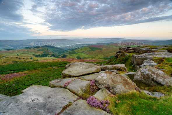 Dawn on Higger Tor - Stock Photo - Images