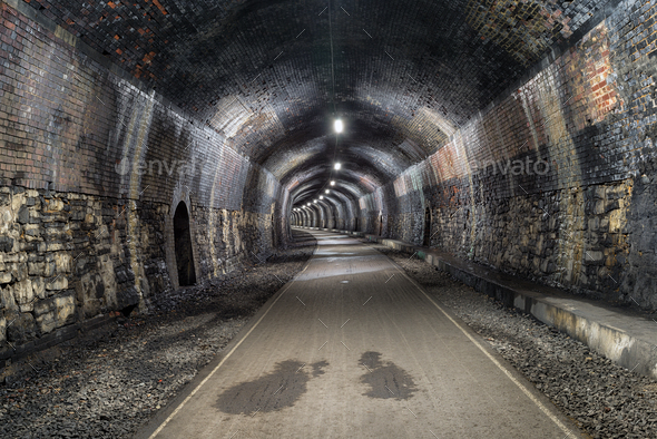 The Headstone Tunnel in Derbshire - Stock Photo - Images