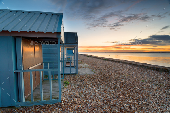 Sunrise at Calshot - Stock Photo - Images