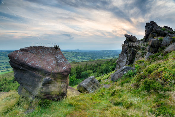 The Roaches in the Peak District - Stock Photo - Images