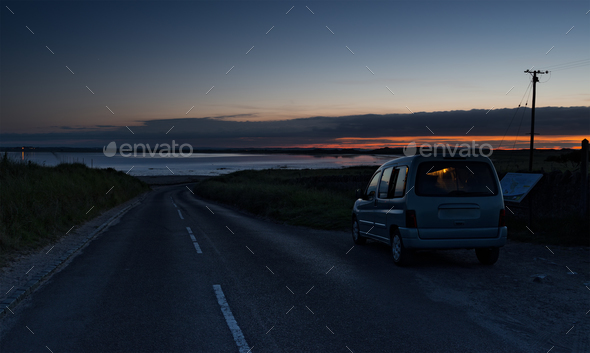 Midnight on Lindisfarne - Stock Photo - Images