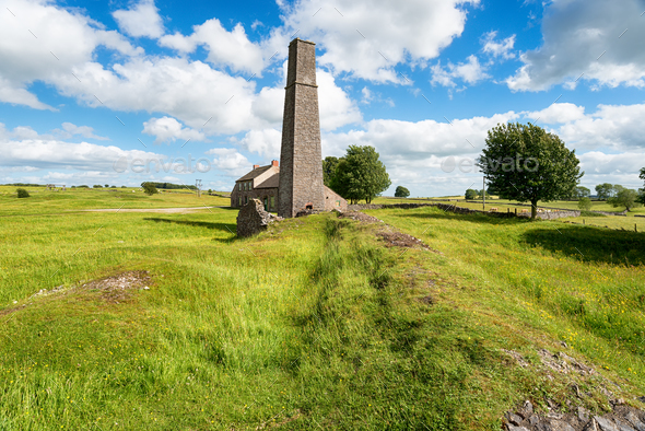 The Magpie Mine in Derbyshire - Stock Photo - Images