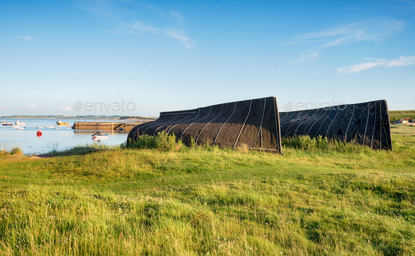Boat Sheds At Lindisfarne - Stock Photo - Images