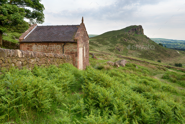 A Hut on The Roaches - Stock Photo - Images