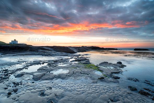 Bamburgh in Northumberland - Stock Photo - Images