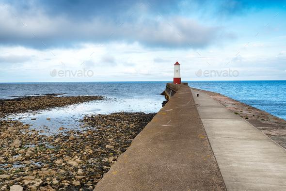 Berwick on Tweed Lighthouse - Stock Photo - Images