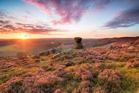 The Salt Cellar on Derwent Edge - Stock Photo - Images