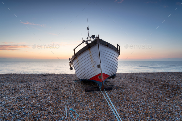 Fishing Boat on the Shore - Stock Photo - Images