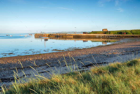 Lindisfarne Harbour - Stock Photo - Images