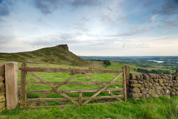 Hen Cloud in The Peak District - Stock Photo - Images