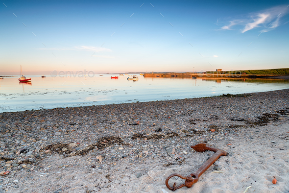 The Beach at Holy Island - Stock Photo - Images