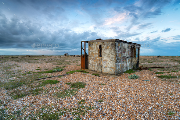 Abandoned Fishing Huts - Stock Photo - Images