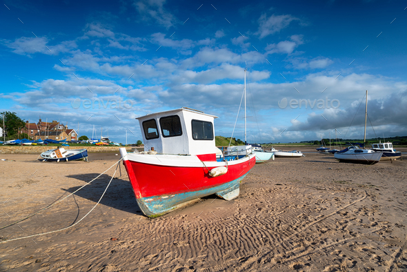 Fishing Boats at Alnmouth - Stock Photo - Images