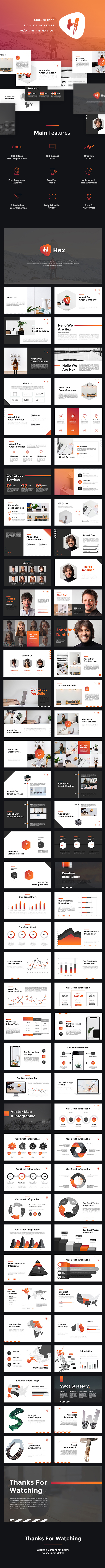 Hex - StartUp Pitch Deck PowerPoint Template - Pitch Deck PowerPoint Templates