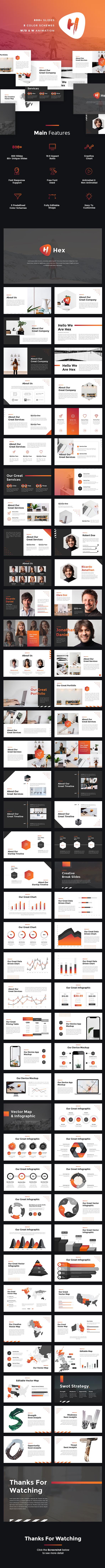 hex - startup pitch deck powerpoint templatesuavedigital, Powerpoint templates