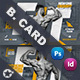 Fitness Time Business Card Templates - GraphicRiver Item for Sale