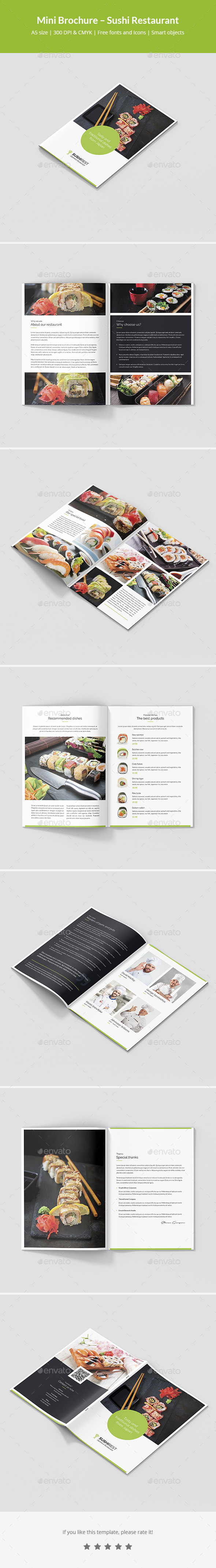 Mini Brochure – Sushi Restaurant A5 - Informational Brochures