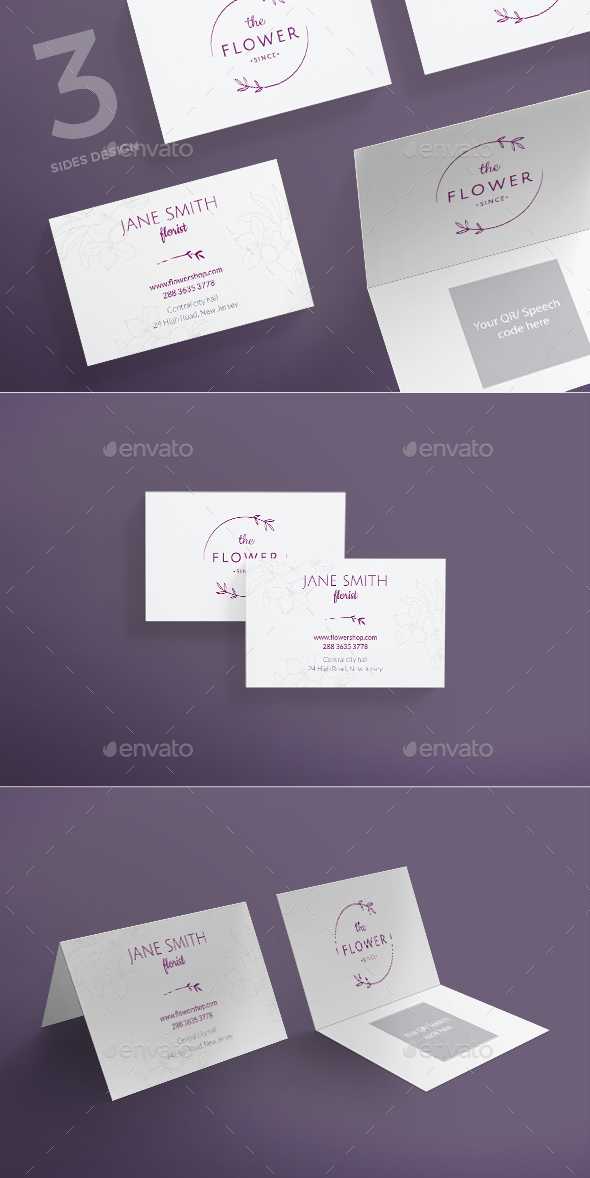 Flower Shop Business Card - Business Cards Print Templates