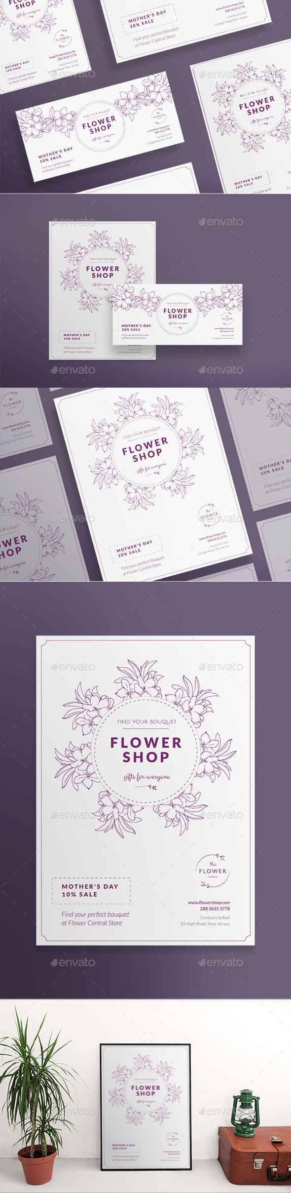 Flower Shop Flyers - Commerce Flyers