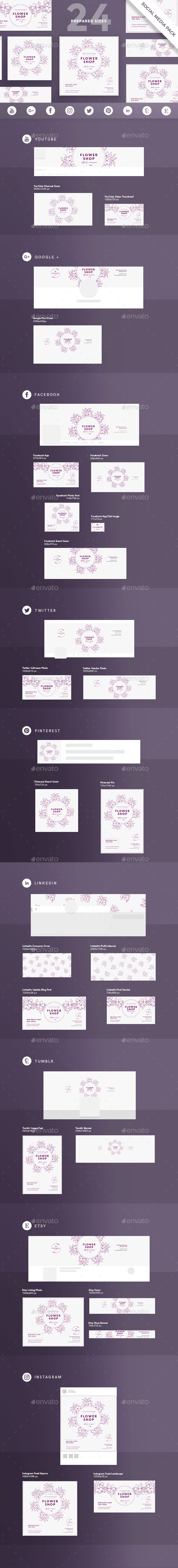Flower Shop Social Media Pack - Miscellaneous Social Media