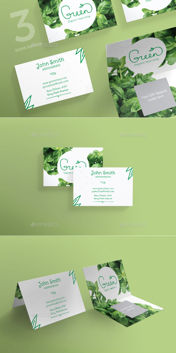 Organic Food Business Card - Business Cards Print Templates