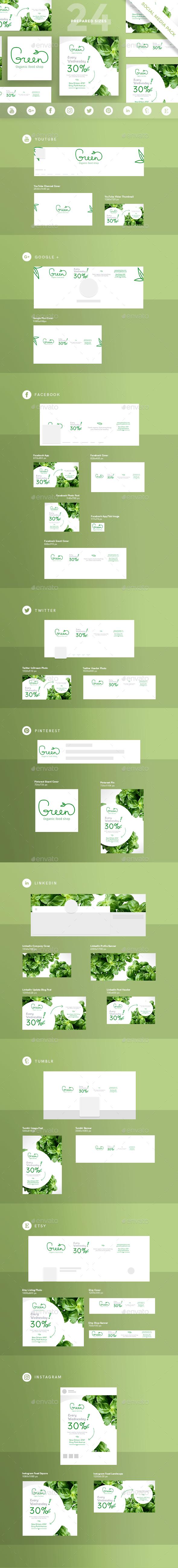 Organic Food Social Media Pack - Miscellaneous Social Media