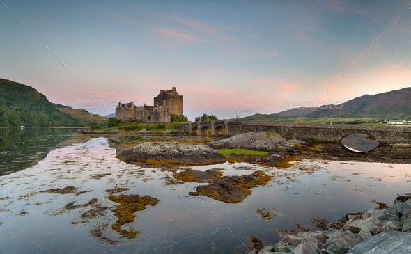Dawn at Eilean Donan - Stock Photo - Images