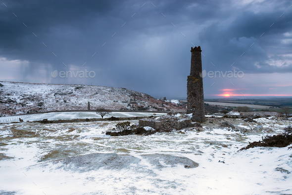 Winter on Bodmin Moor - Stock Photo - Images