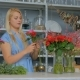 Professional Florist Making Floral Wedding Composition at Flower Shop - VideoHive Item for Sale