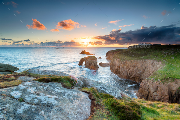 Land's End in Cornwall - Stock Photo - Images