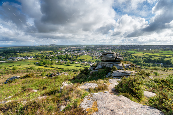 Carn Brea in Cornwall - Stock Photo - Images