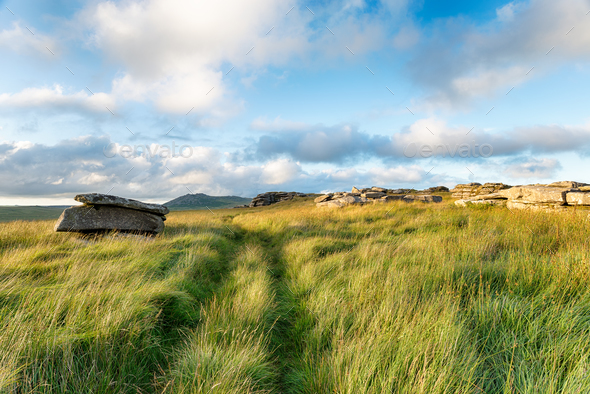 Garrow Tor in Cornwall - Stock Photo - Images