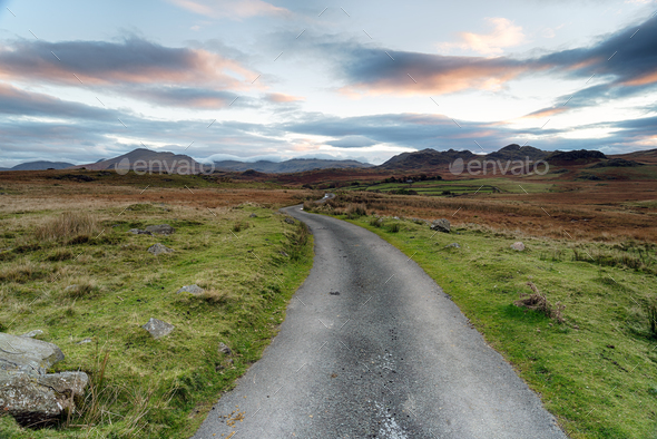 Moody Sky over Birker Fell - Stock Photo - Images