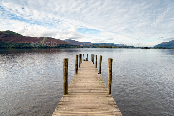 Derwentwater in the Lakes - Stock Photo - Images