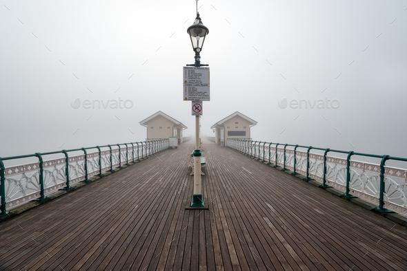 Foggy Penarth Pier - Stock Photo - Images
