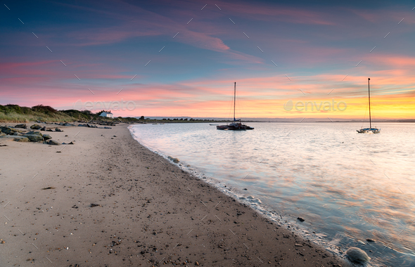 Sunrise at Crow Point in Devon - Stock Photo - Images