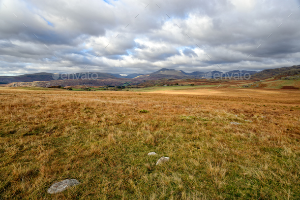 Rugged Countryside in Cumbria - Stock Photo - Images