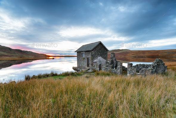 Devoke Water Boathouse - Stock Photo - Images