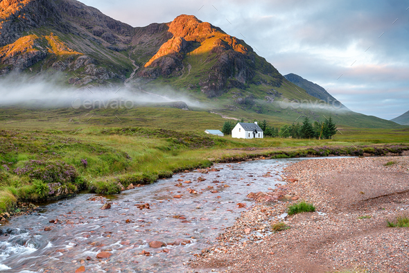 Glencoe Cottage - Stock Photo - Images