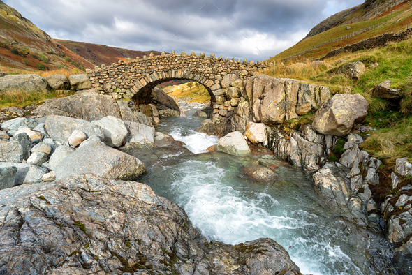 Stockley Bridge near Allerdale - Stock Photo - Images