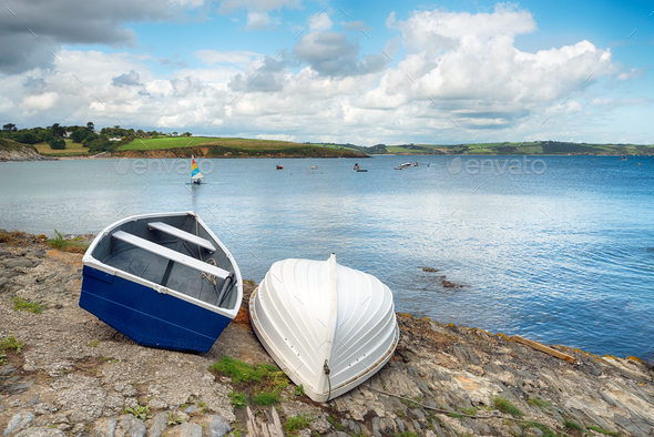 Portscatho in Cornwall - Stock Photo - Images