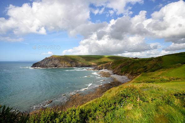 Crackington Haven on the North Coast of Cornwall - Stock Photo - Images