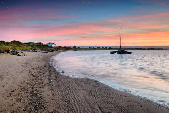 Sunrise from Crow Point in Devon - Stock Photo - Images