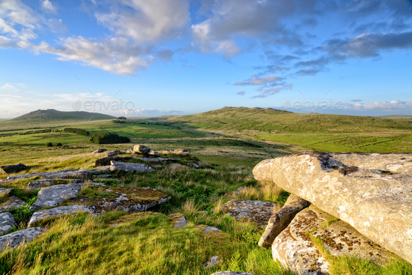 Roughtor and Brown Willy in Cornwall - Stock Photo - Images