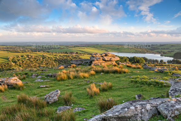 Tregarrick Tor in Cornwall - Stock Photo - Images