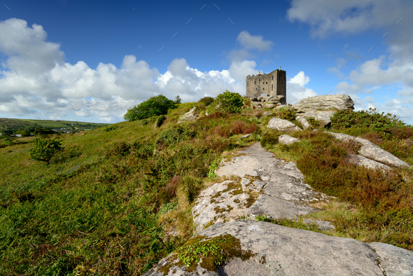 Carn Brea Castle in Cornwall - Stock Photo - Images