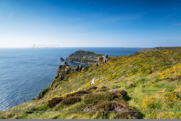 Carn Gloose in Cornwall - Stock Photo - Images